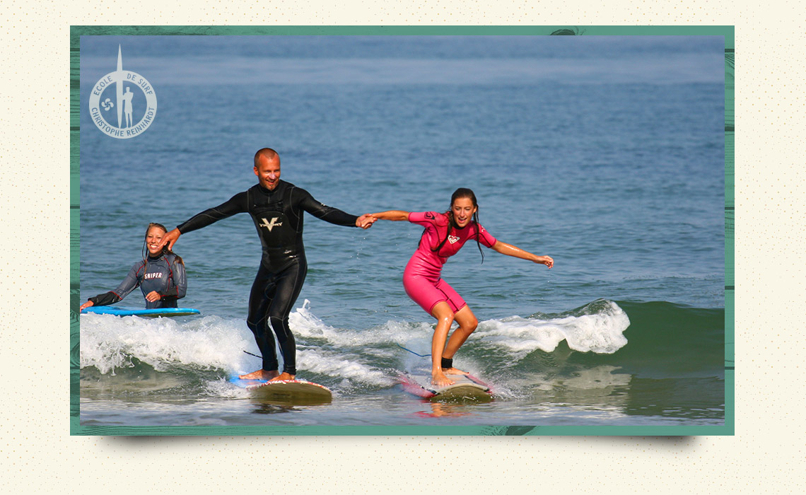 private lessons surf anglet